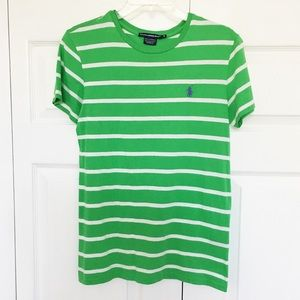 Ralph Lauren | Green & White Striped Tee
